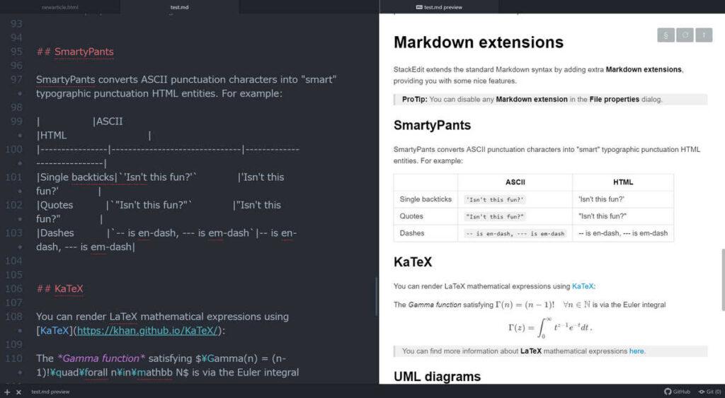 Atomエディタとマークダウン(Markdown)記法による数式・UMLの作成の画像